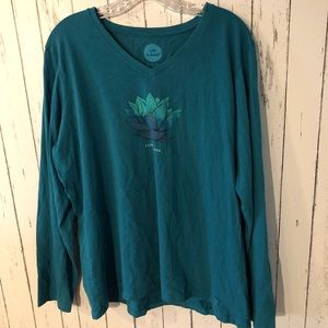 Life Is Good Tops - 3 for $25! Life is Good lotus long sleeve tee